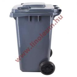 240 literes kerekes műanyag szemetes kuka – szürke hulladéktároló